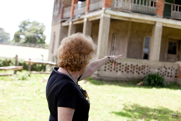 mom pointing to her old room.