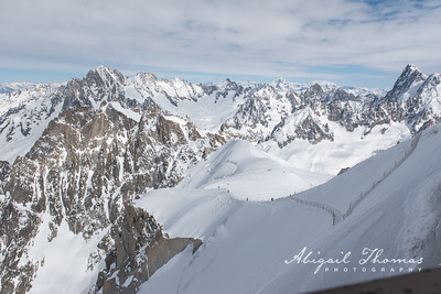Atop the Aguille du Midi