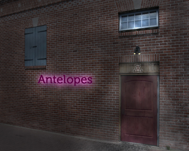 Old Building with Antelopes etc