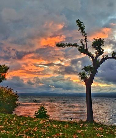 """Stormy Sunset"" - Bolsena, Italia,"