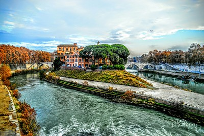 """Isola Tiberina from Ponte Palitino"" - Roma"