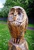 Bowling Basin Marina - Owl sculpture