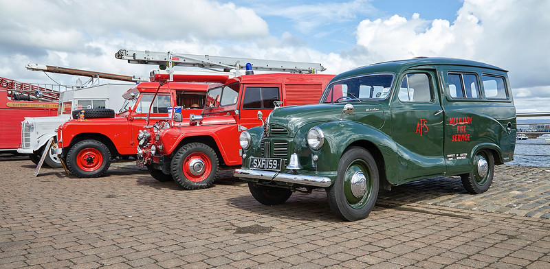 Vintage Fire Engine Festival at East India Harbour, Greenock - 28 July 2018