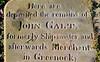 Inverkip Street Cemetery - Greenock - John Galt