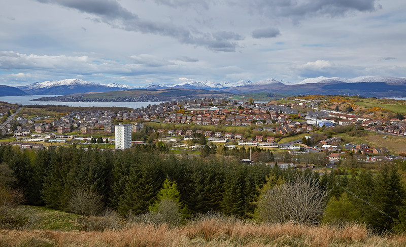 View from The Cut in Greenock - 29 April 2016