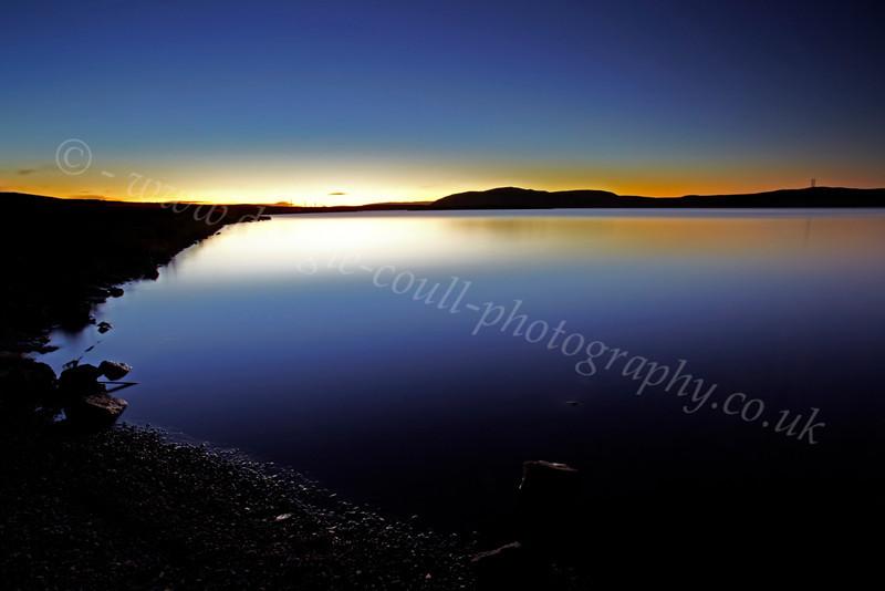 Setting Sun - Loch Thom - 25 October 2012