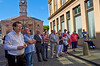 An Attentive Crowd Gather for the Ceremony - William Street - 9 July 2013