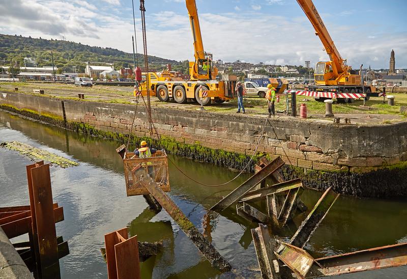 Work at Scott's Old Dry Dock - 20 September 2016