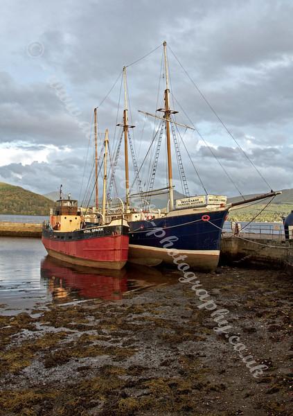 Exhibits in Inverary Harbour