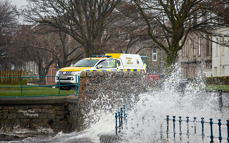 Coastguard during Storm Ciara in Gourock - 9 February 2020