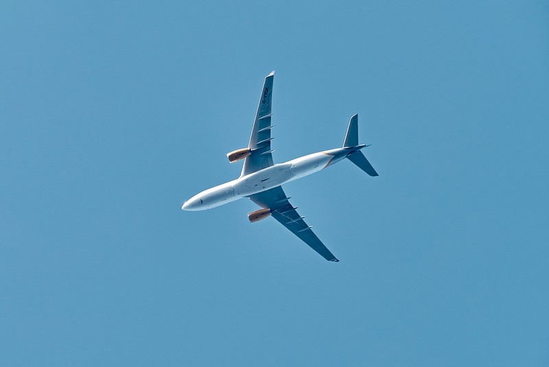 Thomas Cook Airlines Airbus (G-VYGK) Flying above Lunderston Bay - 18 July 2017