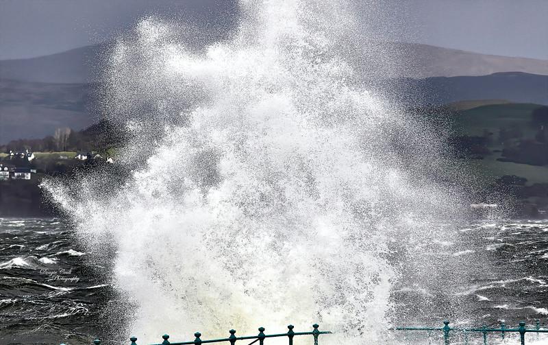 Storm Ciara in Gourock - 9 February 2020