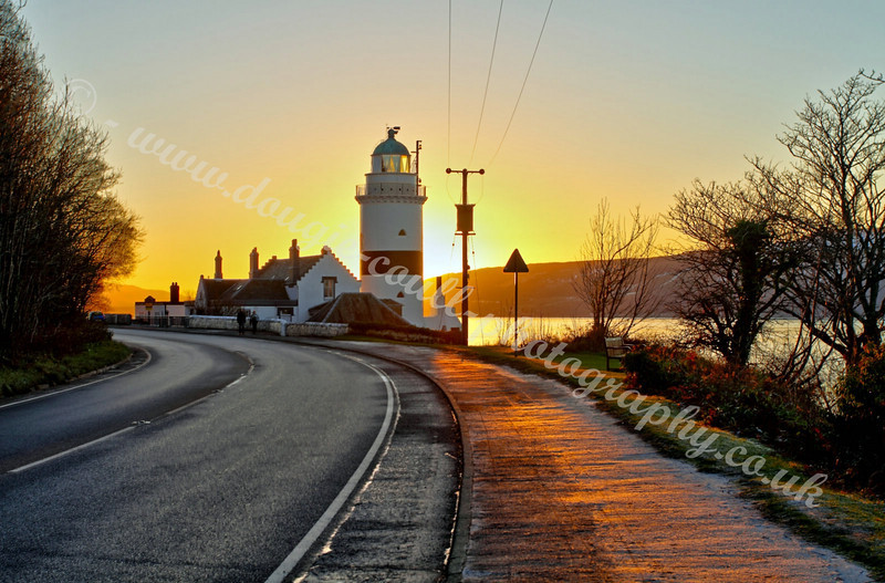 Cloch Lighthouse - Winter Sunset