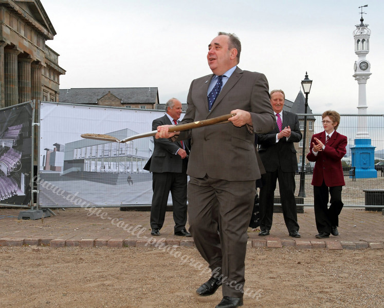 Cutting the Sod for the new Arts Centre - Greenock - 6 September 2010