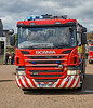 Scania P370 at the Vintage Fire Engine Festival in Greenock - 28 July 2018