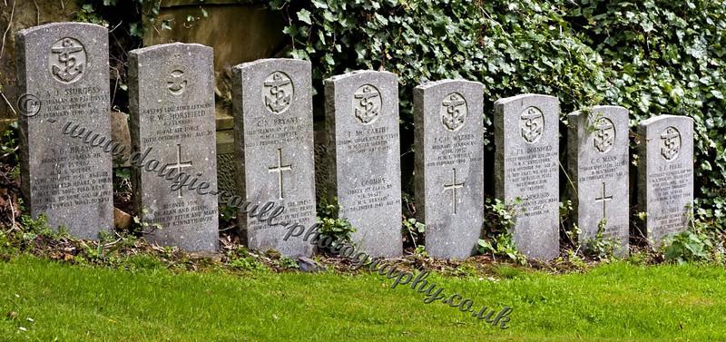Seamen Headstones in a Row