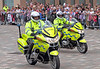 Police Outriders on Queen's Inverclyde Visit - Cathcart Square - 4 July 2012
