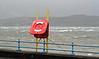 Stormy Greenock Esplanade - 28 December 2011
