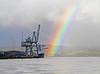 River Clyde Rainbow - Ocean Terminal - 1 December 2011