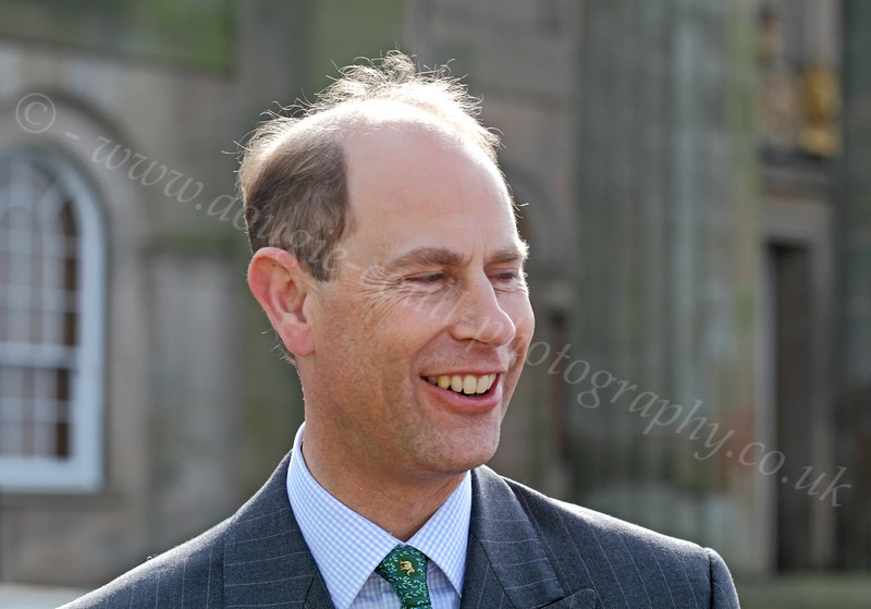 Prince Edward Enjoying a Laugh with the Crowd - Custom House Quay - 22 May 2012