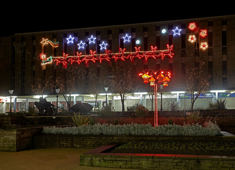 Christmas Lights in Clyde Square - 1 January 2013