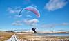 Paraglider at the Cornalees Area, Greenock - 30 January 2019