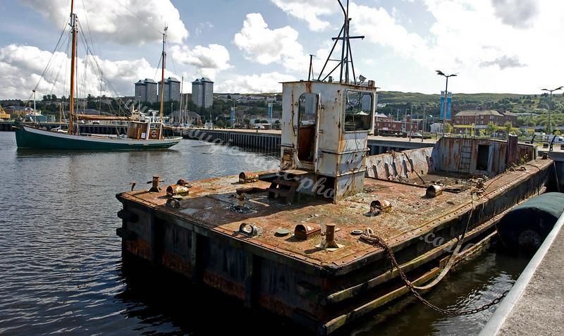 Old Barge and Schooner in the East Inda Harbour, Greenock