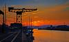 Sunset at James Watt Dock - 11 May 2016