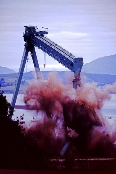 Goliath Demolition at Scott Lithgow Shipyard - August 1997