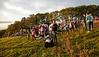 Power Station Chimney Demolition - Onlookers and Media Gather on the Hillside - Inverkip - 28 July 2013