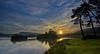 Sun Rising at Knapps Loch Near Kilmacolm - 16 October 2013