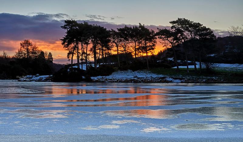 Winter Sunrise at Knapps Loch - 2 February 2019