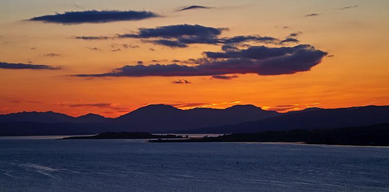 Sunset from Langbank - 1 June 2016