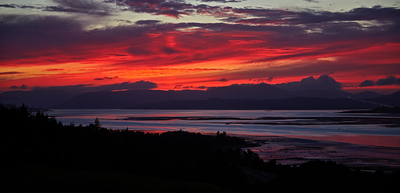 Sunset from Langbank - 22 August 2016