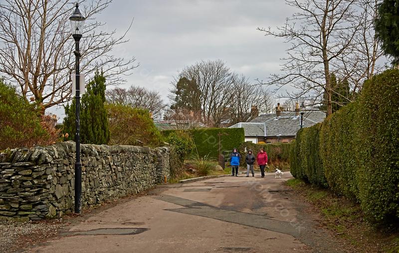 Walking in Luss - 3 February 2015