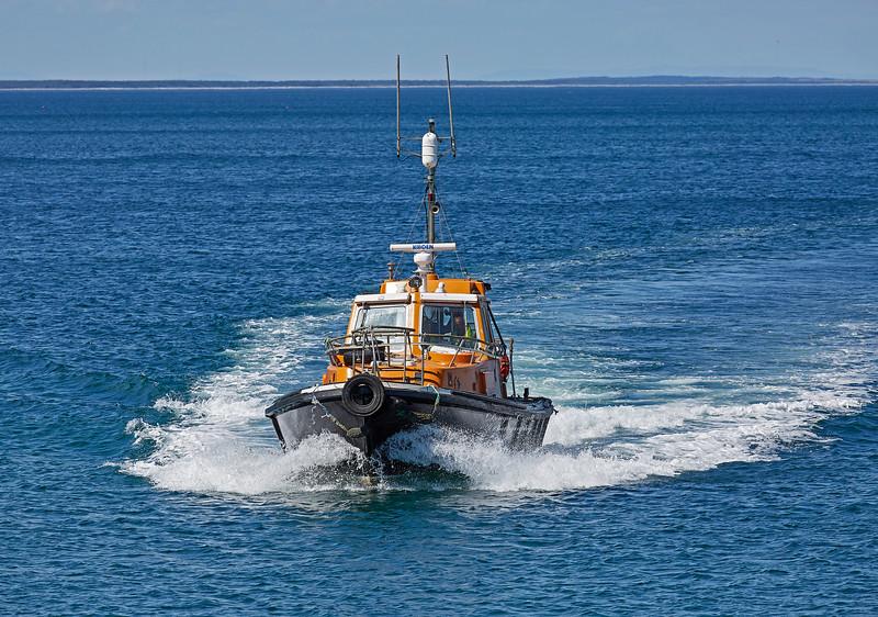 Pilot Cutter approaching Buckie Harbour - 1 July 2018
