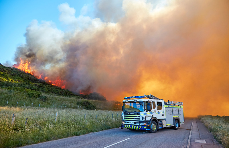 Gorse Fire in Buckie - 30 June 2018