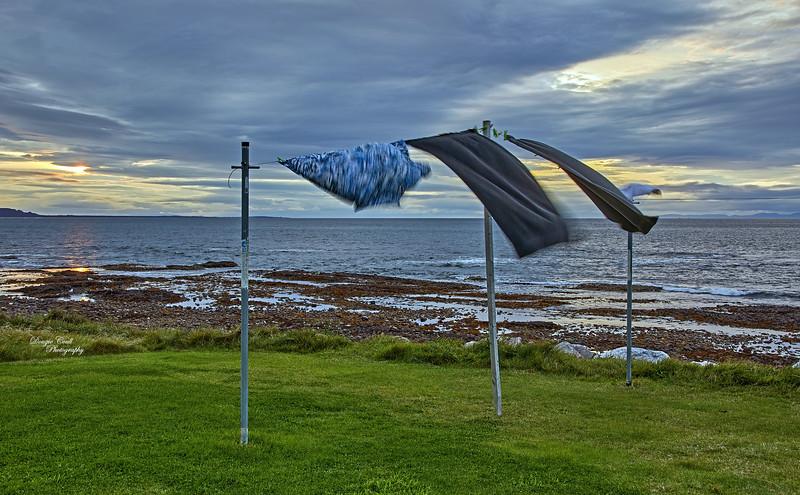 Breezy Washing Line in Buckie - 10 September 2020
