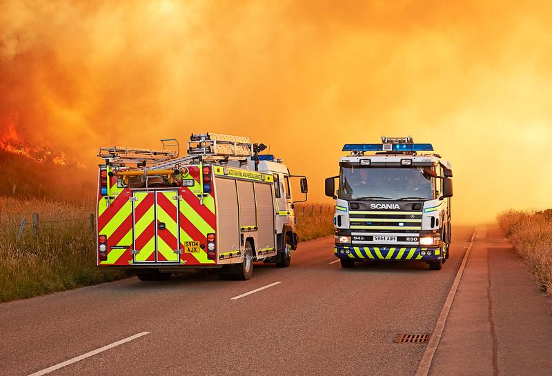 Gorse Fire near Gollachy Burn in Buckie - 30 June 2018