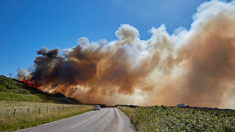 Gorse Fire near Gollachy Burn in Buckie - 30 June 2018