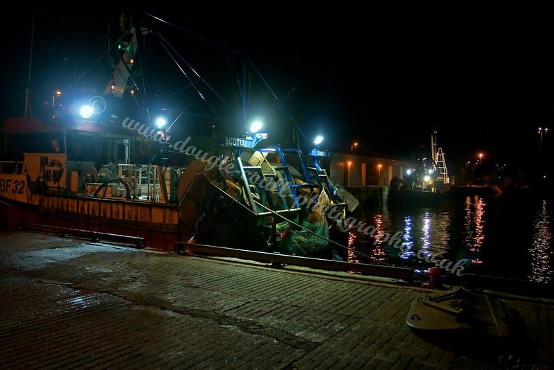 Night at Buckie Harbour - 1 September 2009