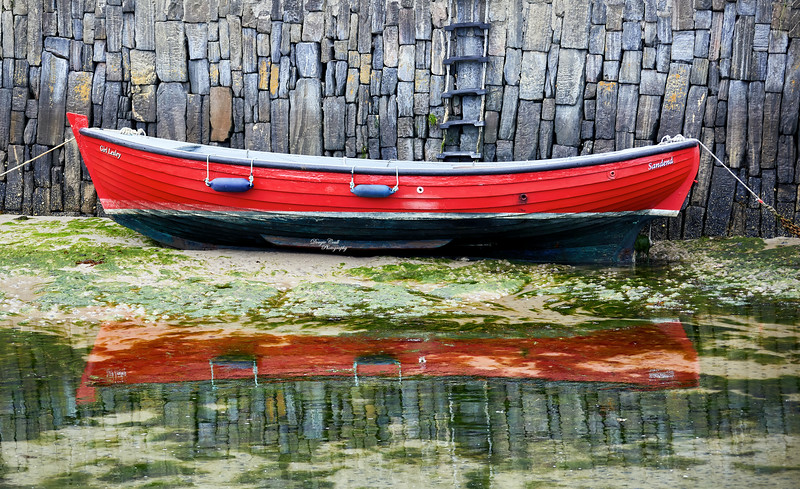 Reflection at Portsoy Harbour - 1 September 2020