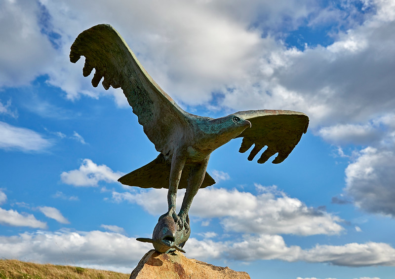 Osprey Sculpture at Spey Bay - 5 May 201