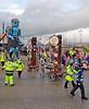 'Big Man Walking' Crossing the Road in Port Glasgow