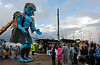 'Big Man' Bows to the Port Glasgow Onlookers