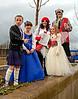 Gala King & Queen of Port Glasgow Meet 'Big Man Walking' in Port Glasgow