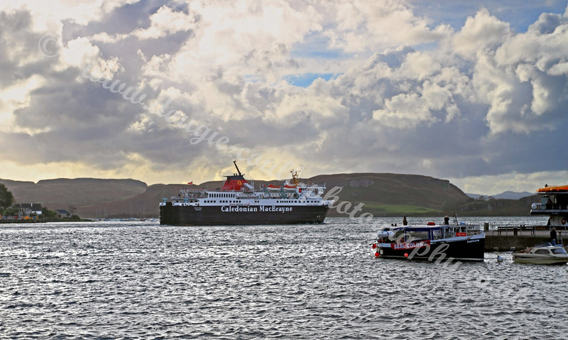 Isle of Mull Ferry Departs Oban