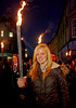 A Smiling Face Shows Enjoyment at the Torchlit Procession for the MOD in Paisley - 11 October 2013