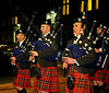 Greater Glasgow Police Scotland Pipe Band at the Torchlit Procession - 11 October 2013
