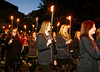 Local Schoolchildren Participate in the Torchlit Procession for the MOD in Paisley - 11 October 2013